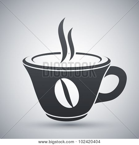 Vector Cup Of Hot Coffee Icon