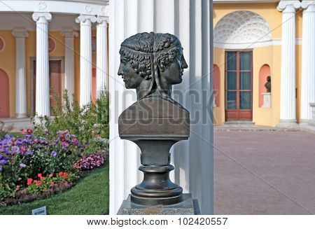 Tsarskoye Selo (Pushkin). Saint-Petersburg. Russia. Sappho and Phaon Sculpture