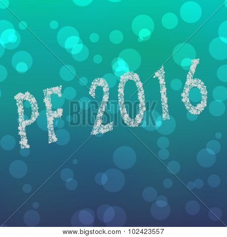 Pf 2016 Happy New Year Created By Snowflakes