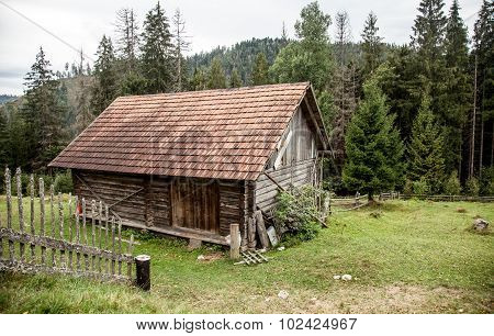 Old House In Ukrainian Carpathian