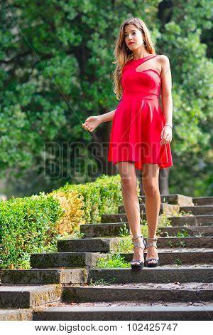 Girl Before The Debutante Ball