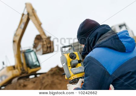 Land Surveying With Theodolite
