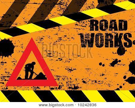 Road Works Under Construction