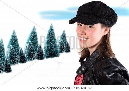 Sixteen Year Old Winter Girl