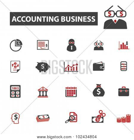 accounting business, consultant icons
