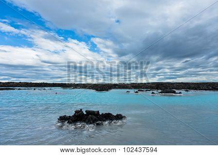 Blue lagoon geothermal spa near Grindavik, Iceland