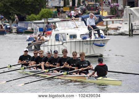 HENLEY, ENGLAND. 04-07-2010.  Hansa Dortmund, GER winners of The Grand Challenge Cup on day 5 of the Henley Royal Regatta 2010 held on the River Thames.