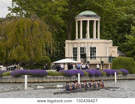 HENLEY, ENGLAND. 01-07-2010. Melbourne Grammar School in action on day 2 of the Henley Royal Regatta 2010 held on the River Thames.