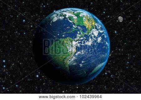 The Earth From Space. America