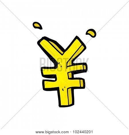 cartoon yen symbol