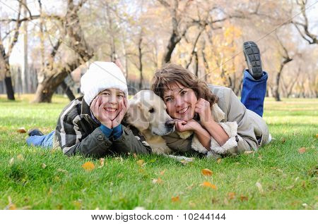 Mother And Son Together Having Fun