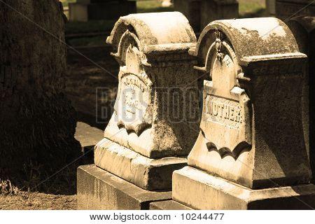 Two historic headstones