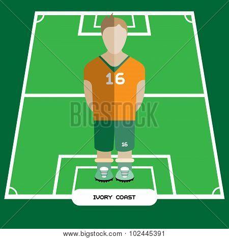Computer Game Ivory Coast Football Club Player