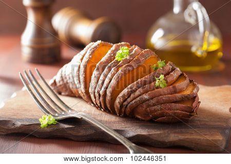 Baked hasselback potatoes
