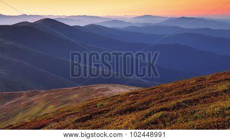 Beautiful Sunrise On The Mountaines
