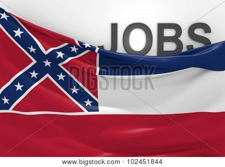 Mississippi jobs and employment opportunities concept