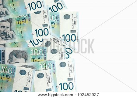 Banknotes On White Background