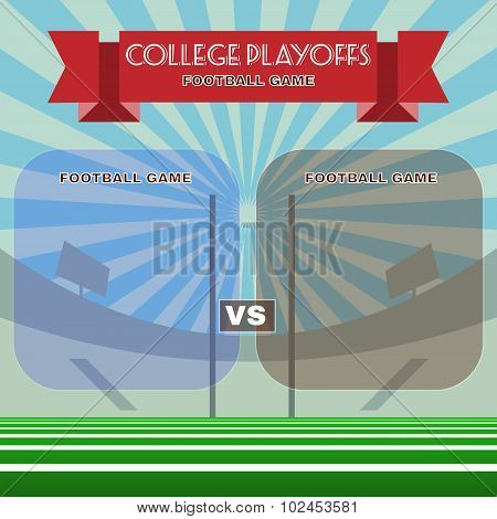 College Football Playoffs Vector Illustration