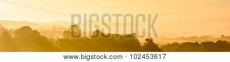 Sumava Abstract Fog Sunrise