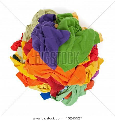 Heap Of Colorful Clothes From Above