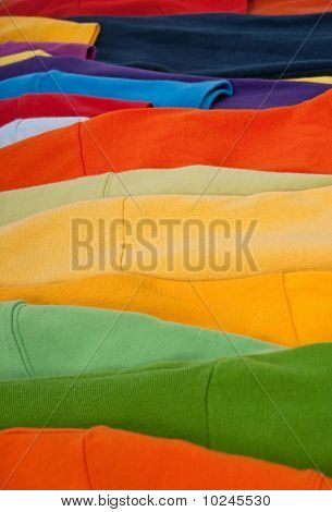 Colorful Clothes Abstract Background