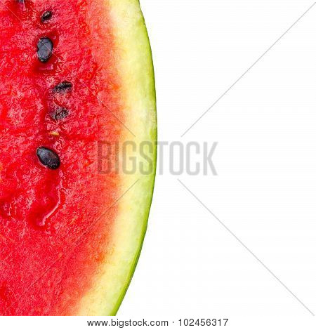 Melon pattern isolated on white background view from the top.