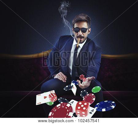 Rich gambler
