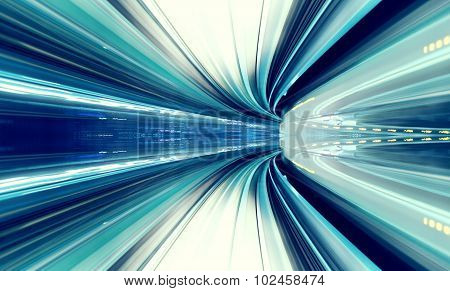 Abstract High Speed Technology Concept Image From Tokyo Monorail