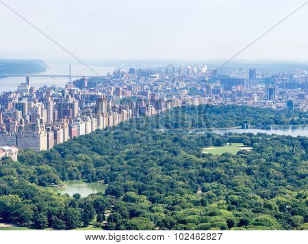 Central Park and the Central Park West skyline in New York City