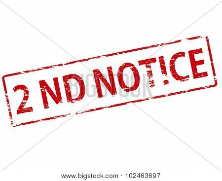 2Nd Notice