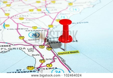 Daytona Beach Florida  Usa Map