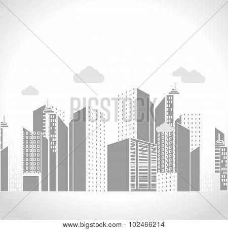 Urban city and real estate design.