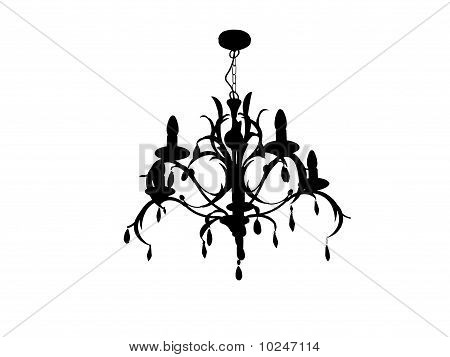 Chandelier With Crystals And Leaf Design