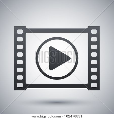 Vector Video Player Icon