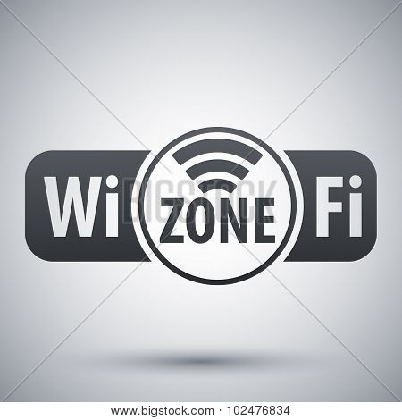 Vector Wi-fi Zone Icon