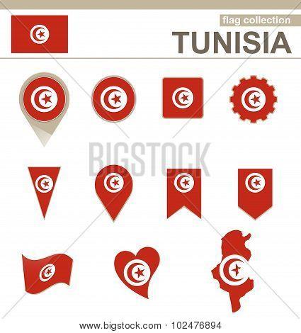 Tunisia Flag Collection