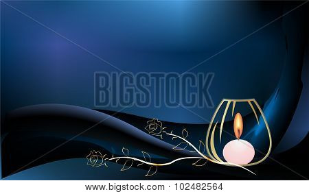 background with a candle,