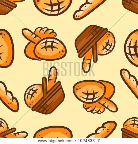 bakery seamless pattern