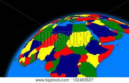 Central Africa On Planet Earth Political Map
