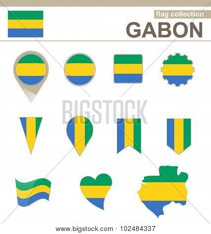Gabon Flag Collection