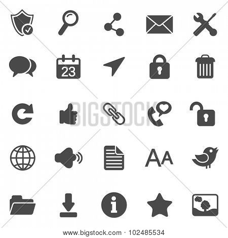 Internet black icons.Set 1.Vector