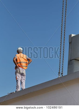 Worker On The Concrete Rigger