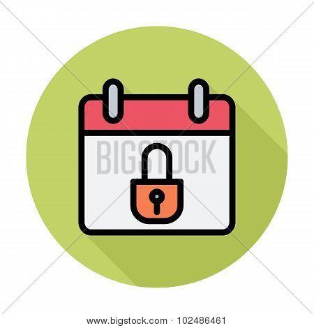 Calendar with padlock