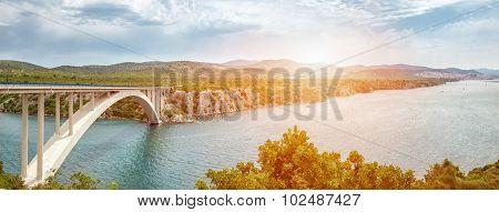 Scenic View Of A Bridge Leading To An Old Town Of Sibenik In Croatia