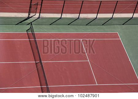 Tennis courts, seen from above