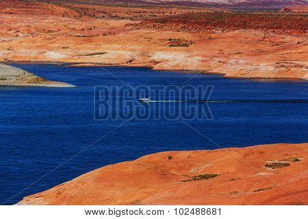 Lake Powell, Alstrom point, USA.
