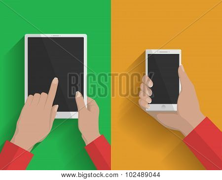 Smartphone and tablet-pc illustration 2