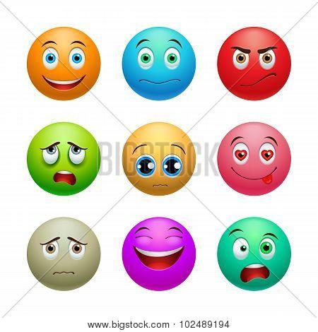 Smile set, balls
