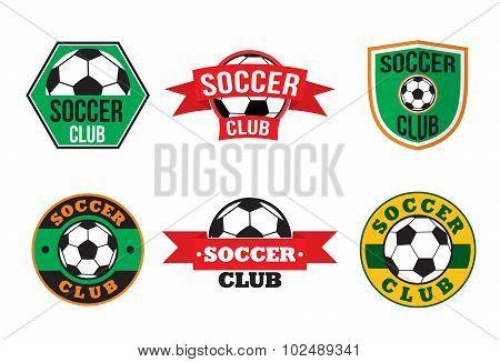 Soccer club logos set