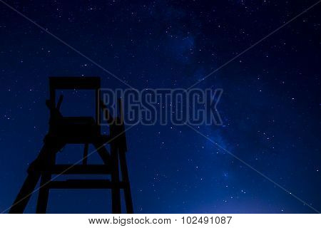 Lifeguard Chair At Night